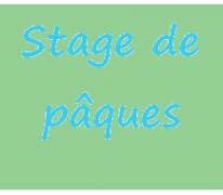 Stage de pâques