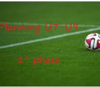 Planning U7-U9 1° phase