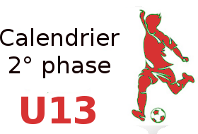 Calendrier U13 2° phase